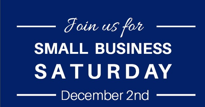 Small Business Saturday, December 2nd 2017