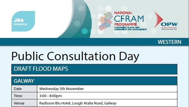 OPW is holding a Public Consultation Day on Draft Flood Maps for Galway City